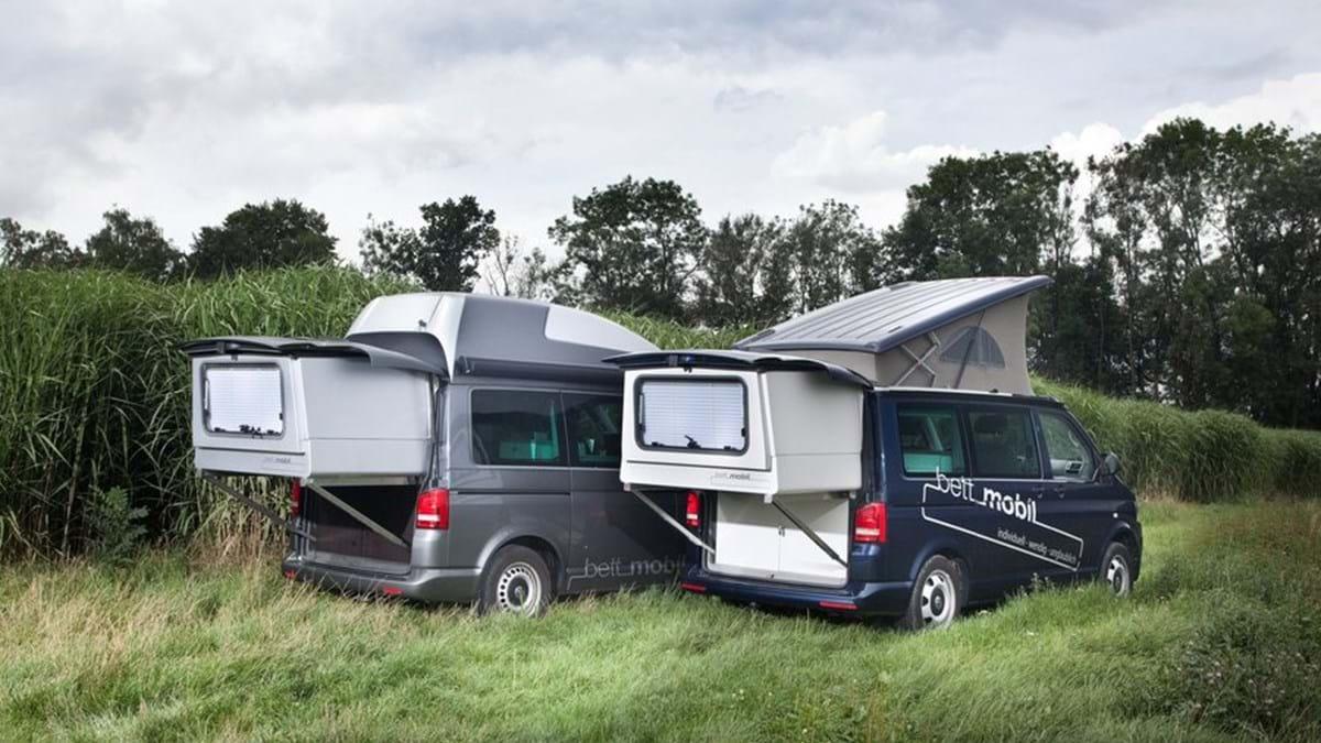 Vw Camper Uitschuifbaar.Bett Mobil Vw T5 Met Uitschuifbed Nkc